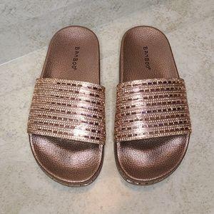 Rhinestone Sandals 😍 (rosegold)